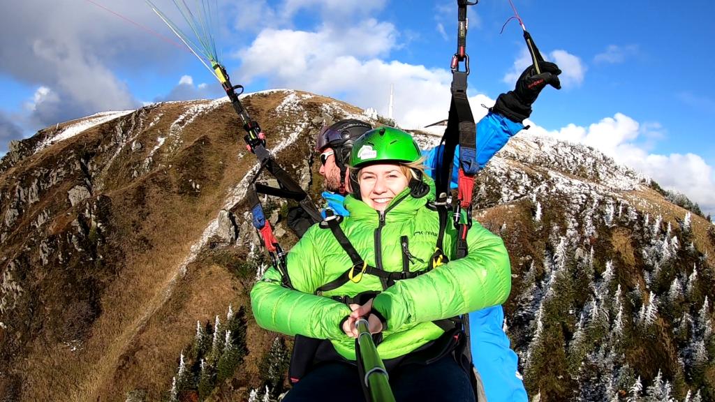 Saut en parapente Puy de Dôme vidéo hiver