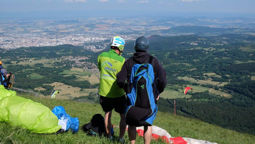 Briefing décollage parapente Puy de Dôme