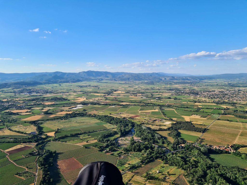 Record de distance en parapente Auvergne