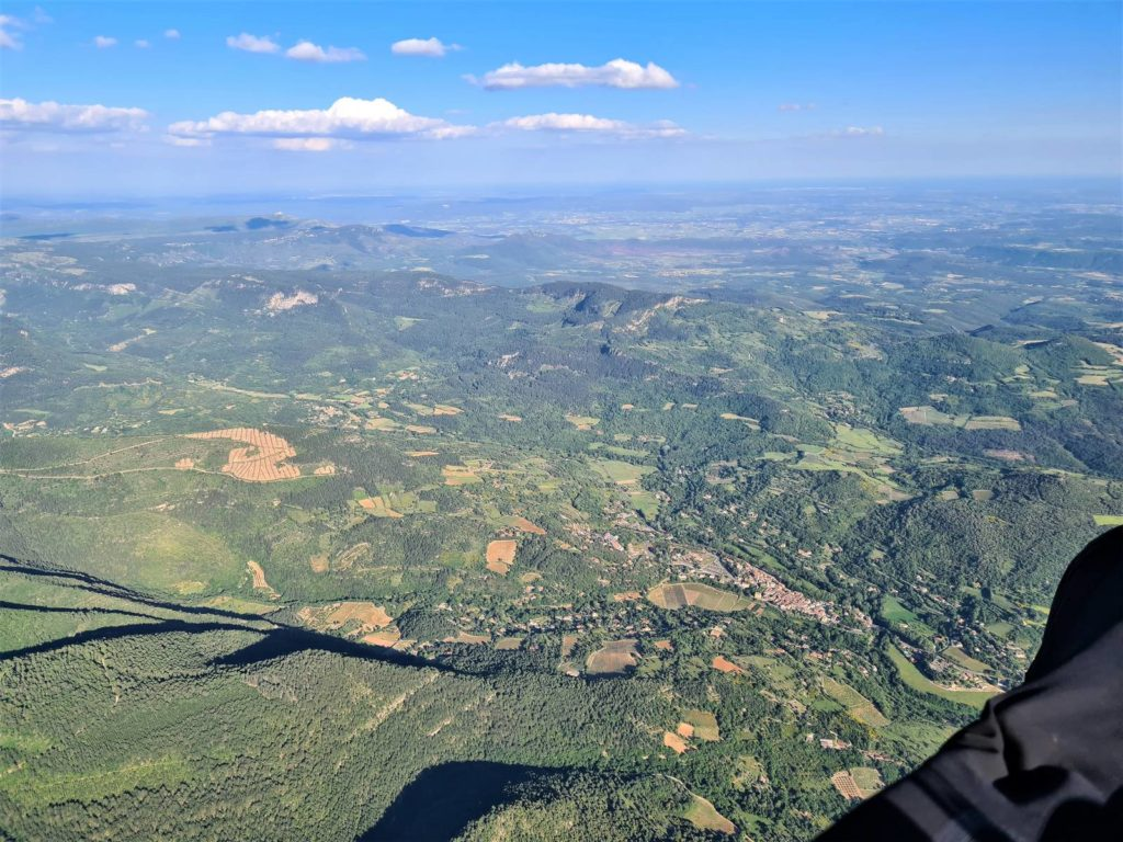 record Puy de Dôme parapente Etang de Thau